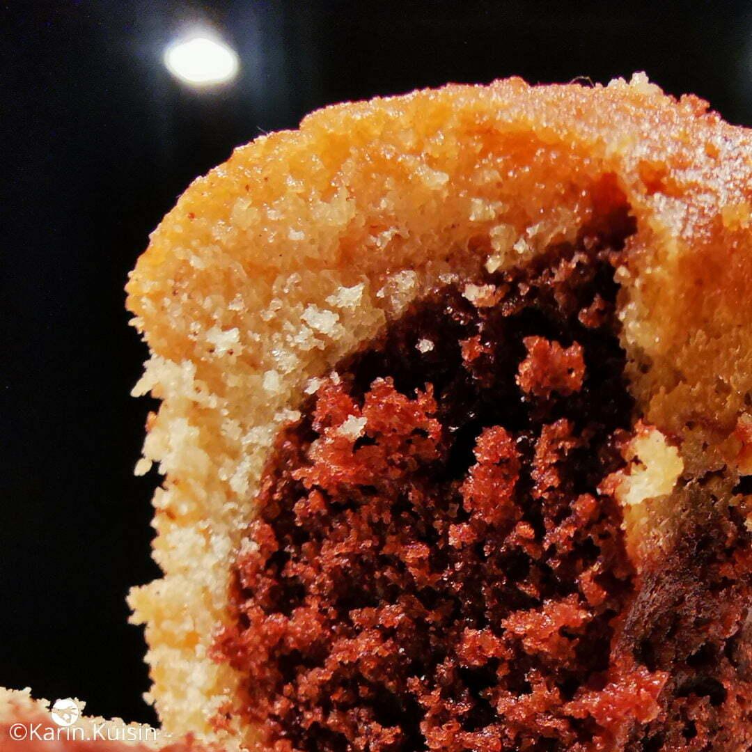 cake marbré final découpe